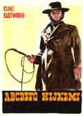 Movie Posters:Western, High Plains Drifter by Enzo Nistri (Universal, 1973). Fine/Very Fine on Paper. Signed Original Italian Comprehensive Layout ...