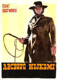 High Plains Drifter by Enzo Nistri (Universal, 1973). Fine/Very Fine on Paper. Signed Original Italian Comprehensive Lay...