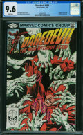 Modern Age (1980-Present):Superhero, Daredevil #180 (Marvel, 1982) CGC NM+ 9.6 White pages.