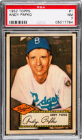 Baseball Cards:Singles (1950-1959), 1952 Topps Andy Pafko #1 PSA NM 7 - Only Five Higher. ...