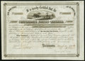 Confederate Notes:Group Lots, Ball 268 Cr. 134 $1,000 1863 Six Per Cent Stock Certificate Extremely Fine.. ...