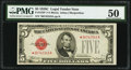 Small Size:Legal Tender Notes, Fr. 1528* $5 1928C Legal Tender Star Note. PMG About Uncirculated 50.. ...