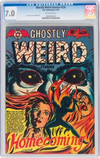 Ghostly Weird Stories #124 (Star Publications, 1954) CGC FN/VF 7.0 Off-white pages