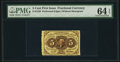Fractional Currency:First Issue, Fr. 1229 5¢ First Issue PMG Choice Uncirculated 64 EPQ.. ...