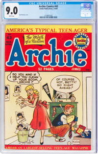 Archie Comics #43 (Archie, 1950) CGC VF/NM 9.0 White pages