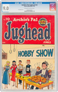 Golden Age (1938-1955):Humor, Archie's Pal Jughead #10 (Archie, 1952) CGC VF/NM 9.0 Off-white to white pages....