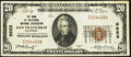 National Bank Notes:California, San Francisco, CA - $20 1929 Ty. 1 The Bank of California National Assoc Ch. # 9655 Very Fine+.. ...