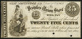Obsoletes By State:New Hampshire, West Northwood, NH- Peoples Union Store 25¢ Dec. 1, 1862 Remainder Choice About Uncirculated, 2 POCs.. ...