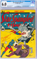 Golden Age (1938-1955):Superhero, Star Spangled Comics #1 (DC, 1941) CGC FN 6.0 Cream to off-white pages....