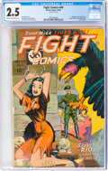 Golden Age (1938-1955):War, Fight Comics #40 (Fiction House, 1945) CGC GD+ 2.5 Cream to off-white pages....