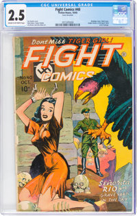 Fight Comics #40 (Fiction House, 1945) CGC GD+ 2.5 Cream to off-white pages