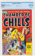 Golden Age (1938-1955):Horror, Chamber of Chills #7 (Harvey, 1952) CBCS FN- 5.5 Off-white to white pages....