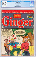 Golden Age (1938-1955):Humor, Ginger #2 (Archie, 1952) CGC GD 2.0 Off-white pages....