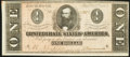 Confederate Notes:1864 Issues, T71 $1 1864 PF-12 Cr. 574 Choice About Uncirculated.. ...