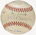 Autographs:Baseballs, Hall of Famers Signed Baseball with Foxx, Wheat....