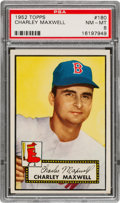 Baseball Cards:Singles (1950-1959), 1952 Topps Charley Maxwell #180 PSA NM-MT 8 - Only Four Higher. ...