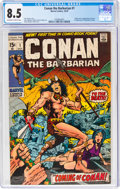 Bronze Age (1970-1979):Adventure, Conan the Barbarian #1 (Marvel, 1970) CGC VF+ 8.5 Off-white to white pages....