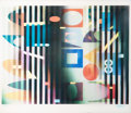 Prints & Multiples, Yaacov Agam (b. 1928). Untitled, late 20th century. Agamograph. 12-1/2 x 14-3/4 inches (31.8 x 37.5 cm). Ed. 50/99. Sign...