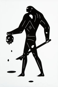 Cleon Peterson (b. 1973) Headless Man (Black and White), 2019 Screenprint in colors on Coventry Rag