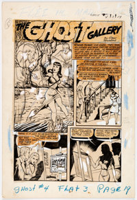 "Alex Blum Jumbo Comics #81 and Ghost Comics #4 Retooled ""Ghost Gallery"" Splash Page Original Art (Fict"