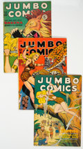 Golden Age (1938-1955):Adventure, Jumbo Comics Group of 5 (Various Publishers, 1946-50) Condition: VG.... (Total: 5 Comic Books)