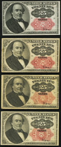 Fractional Currency:Fifth Issue, Two Fr. 1308 25¢ Fifth Issue Notes Very Fine or Better;. Two Fr. 1309 25¢ Fifth Issue Notes Very Fine or Better.. ... (Total: 4 notes)
