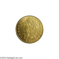 Early Half Eagles: , 1810 $5 Large Date, Large 5 AU58 PCGS....
