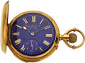 Timepieces:Pocket (pre 1900) , Favre Leuba & Co. 18 Gold Fancy Dial Quarter Hour Repeater...