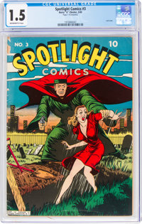 Spotlight Comics #3 (Chesler, 1945) CGC FR/GD 1.5 Brown/Brittle pages