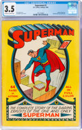 Golden Age (1938-1955):Superhero, Superman #1 (DC, 1939) CGC VG- 3.5 Off-white to white pages....