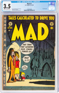 Golden Age (1938-1955):Humor, MAD #1 (EC, 1952) CGC VG- 3.5 Cream to off-white pages....