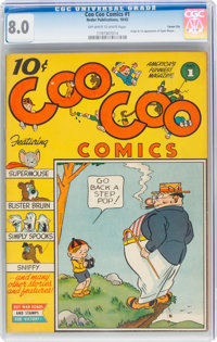 Coo Coo Comics #1 Carson City Pedigree (Nedor Publications, 1942) CGC VF 8.0 Off-white to white pages