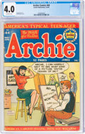 Golden Age (1938-1955):Humor, Archie Comics #44 (Archie, 1950) CGC VG 4.0 Off-white pages....