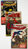 Silver Age (1956-1969):Superhero, The Amazing Spider-Man/Daredevil Group of 10 (Marvel, 1965-70).... (Total: 10 Items)