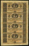 Obsoletes By State:Louisiana, New Orleans, LA- Citizens' Bank of Louisiana $100-$100-$100-$100 18__ Uncut Sheet Choice Crisp Uncirculated.. ...