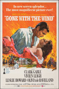 """Movie Posters:Academy Award Winners, Gone with the Wind (MGM, R-1968). Folded, Very Fine. One Sheet (27"""" X 41""""). Howard Terpning Artwork. Academy Award Winners...."""