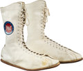 "1975 Muhammad Ali Fight Worn Shoes from Frazier III Bout, ""The Thrilla in Manila."""