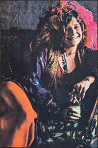 "Janis Joplin (c.1970s). Rolled, Fine+. Black Light Poster (23.5"" X 35.5""). Rock and Roll"