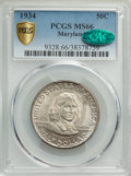 Commemorative Silver, 1934 50C Maryland MS66 PCGS. CAC. PCGS Population: (688/74 and 18/15+). NGC Census: (522/96 and 11/5+). CDN: $205 Whsle. Bi...