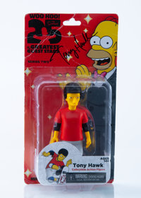 20th Century Fox X NECA The Simpsons: 25 of the Greatest Guest Stars-Tony Hawk, 2014 Painted cast vinyl 5-1/4 x 2-1/2