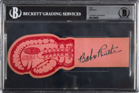 1946 Babe Ruth Signed Boxing Ticket, Beckett Authentic