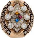 Football Collectibles:Others, 2008 Pittsburgh Steelers Super Bowl XLIII Championship Ring Presented to Defensive Back Tyrone Carter....