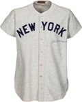 Baseball Collectibles:Uniforms, 1947 Joe DiMaggio World Series Game Five Worn & Signed New York Yankees Jersey, MEARS A9 & SGC Excellent--Photo Matched! ...