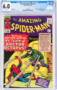 The Amazing Spider-Man #11 (Marvel, 1964) CGC FN 6.0 White pages