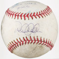Baseball Collectibles:Balls, 2006 Derek Jeter & Robinson Cano Dual-Signed Game Used Baseball....