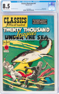 Golden Age (1938-1955):Classics Illustrated, Classics Illustrated #47 20,000 Leagues Under the Sea - First Edition (Gilberton, 1948) CGC VF+ 8.5 Off-white to white pages....