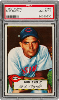 1952 Topps Bud Byerly #161 PSA NM-MT 8 - Only One Higher