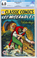 Golden Age (1938-1955):Classics Illustrated, Classic Comics #9 (1A) Les Miserables - First Edition (Gilberton, 1943) CGC FN 6.0 Off-white to white pages....