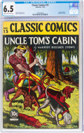 Golden Age (1938-1955):Classics Illustrated, Classic Comics #15 Uncle Tom's Cabin - First Edition (Gilberton, 1943) CGC FN+ 6.5 Cream to off-white pages....