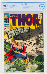 Thor #132 (Marvel, 1966) CBCS VF/NM 9.0 Off-white to white pages